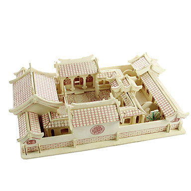 voordelige 3D-puzzels-3D-puzzels Houten modellen Plezier Hout Klassiek Kinderen Unisex Speeltjes Geschenk