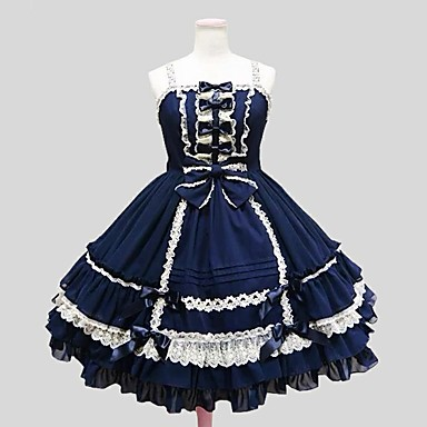 Gothic Lolita Dress Princess Women's Girls' Dress Cosplay Knee Length