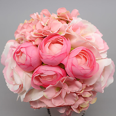 1 Větev Hedvábí Růže Květina na stůl Umělé květiny