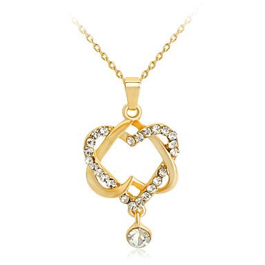 للمرأة قلائد الحلي - حجر الراين موضة, euramerican في ذهبي قلادة مجوهرات من أجل زفاف, حزب, مناسبة خاصة