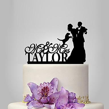 Decorações de Bolo Tema Jardim / Tema Clássico Casal Clássico Acrílico Casamento / Aniversário / Chá de Cozinha com 1 pcs PPO