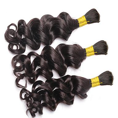 voordelige Weaves van echt haar-3 bundels Braziliaans haar Gekruld Diepe Golf Curly Weave 8A Echt haar Bundle Hair Menselijk haar weeft Extensions van echt haar Dames