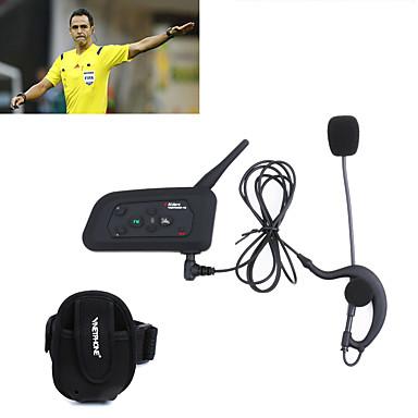 1pcs fotballdommer intercom headset vnetphone v4c 1200m full duplex bluetooth intercom med fm for 4 brukere dommer interphone