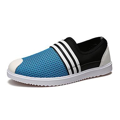 Herrn Schuhe Tüll Frühling / Herbst Komfort Loafers & Slip-Ons Grau / Blau / Khaki