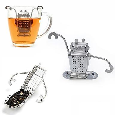 1pcs aço inoxidável robô bonito infuser fabricante direto reciclável chá filtros ferramenta chá