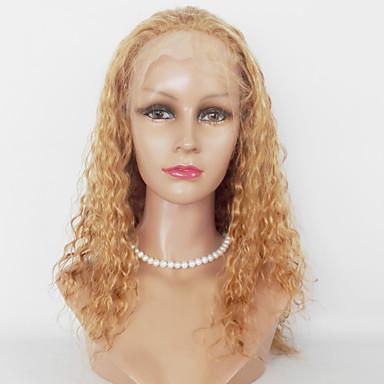 Syntetické čipky předních paruky Kinky Curly Umělé vlasy Afroamerická paruka Paruka Dámské Dlouhý Přírodní paruka Se síťovanou přední