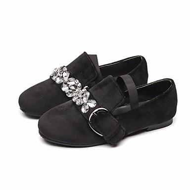 여아 보트 신발 슬링백 봄 가을 PU 캐쥬얼 청키 굽 블랙 그린 핑크 2.5cm- 4.5cm