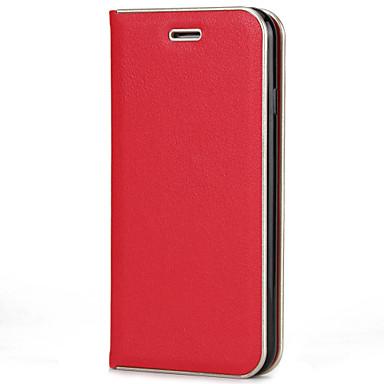 Capinha Para Apple iPhone 7 / iPhone 7 Plus Porta-Cartão / Com Suporte / Flip Capa Proteção Completa Sólido Rígida PU Leather para iPhone 7 Plus / iPhone 7 / iPhone 6s Plus