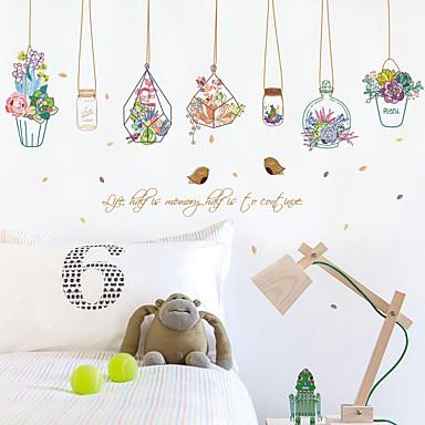 데코레이티브 월 스티커 - 플레인 월스티커 패션 / 꽃 / 보타니칼 거실 / 침실 / 다이닝룸