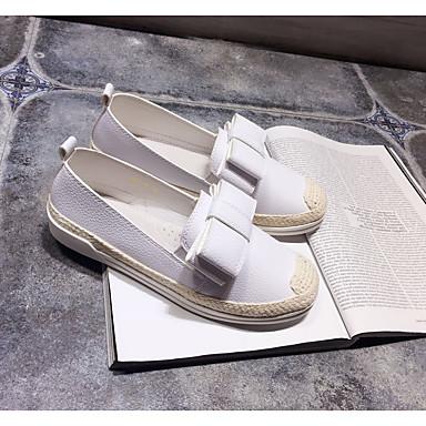 여성 구두 마이크로 섬유 여름 조명 신발 플랫 제품 캐쥬얼 화이트 그레이