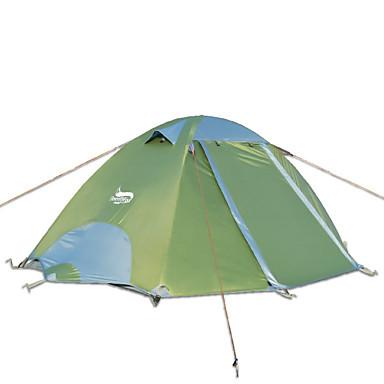 billige Telt og ly-DesertFox® 2 personer Telt Utendørs Vanntett, Regn-sikker Dobbelt Lagdelt camping Tent 2000-3000 mm til Camping Oxford