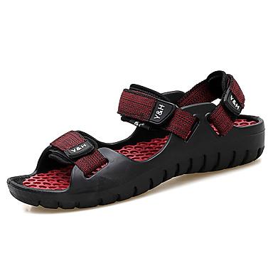 Men's Comfort PU(Polyurethane) Spring / Summer Comfort Men's Sandals Black / Red / Light Brown / Black / Yellow 91170c