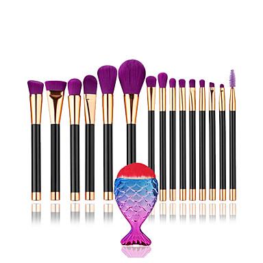1conjunto Pincéis de maquiagem Profissional Conjuntos de pincel / Pincel para Blush / Pincel para Sombra Pêlo Sintético Profissional /