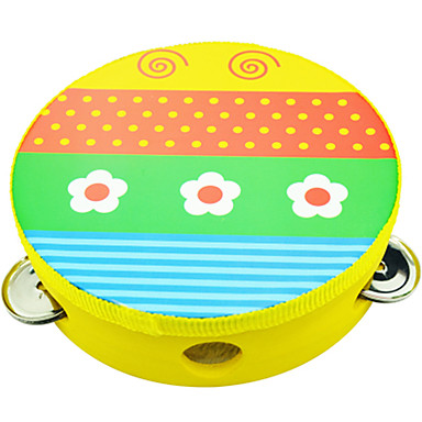 Pandeiro Instrumento Musical de Brinquedo Circular Unisexo