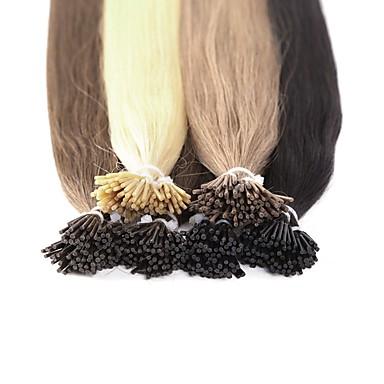 Fusion / I Tip Rozšíření lidský vlas Volný Přírodní vlasy Dámské Denní