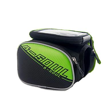 حقيبة الهاتف الخليوي / حقيبة دراجة الإطار الشاشات التي تعمل باللمس, مقاوم للماء, يمكن ارتداؤها حقيبة الدراجة حقيبة الدراجة حقيبة الدراجة أيفون 5C / iPhone 8/7/6S/6 / iPhone 8 Plus / 7 Plus / 6S Plus