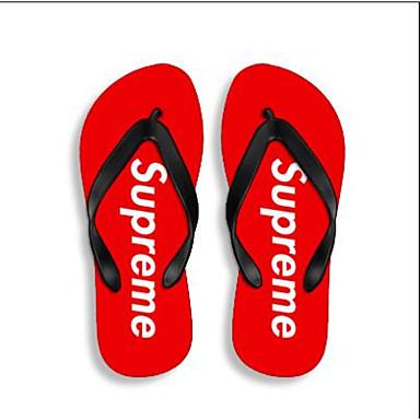 여성 구두 네오프렌 여름 컴포트 조명 신발 슬리퍼 플립 플롭 제품 캐쥬얼 블랙 레드 스크린 컬러