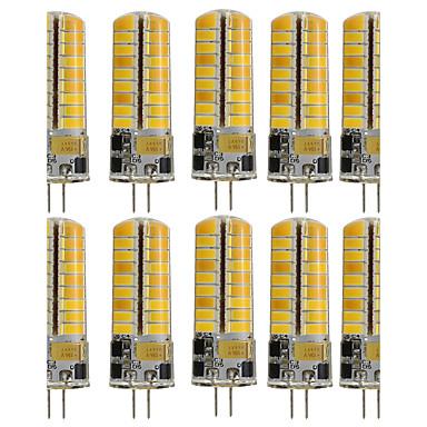 10pçs 3W 250-300 lm G4 Luminárias de LED  Duplo-Pin T 72 leds SMD 5730 Decorativa Branco Quente Branco Frio AC 110-130V
