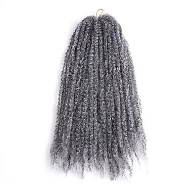 جدائل الشعر مجعد جدائل كيرلي شعر مستعار صناعي 30 جذور / حزمة الشعر الضفائر