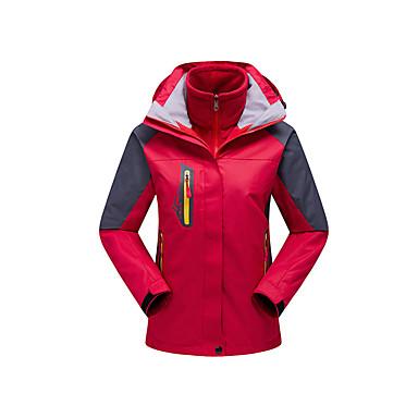 Damen 3-in-1 Jacken Außen Winter Wasserdicht warm halten Windundurchlässig Fleece Innenfutter Regendicht tragbar Atmungsaktiv Abnehmbare
