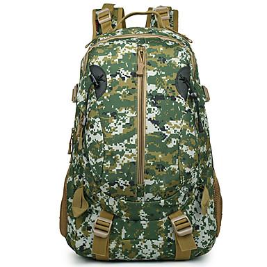50L mochila - Prova-de-Água, Vestível, Multifuncional Acampar e Caminhar, Viajar selva digital, Três cor de areia, camuflagem verde