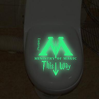 Autocolantes de Banheiro - Autocolantes de Parede Luminosos Paisagem / Desenho Animado / Palavras e Citações Sala de Estar / Quarto /