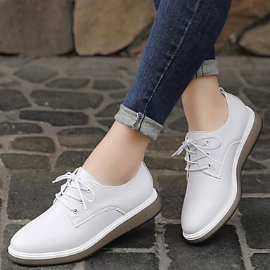 Noir Blanc Cuir 06533871 Plat Femme Talon Confort Oxfords Chaussures Eté Printemps 8THwH5zOq