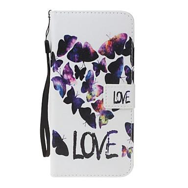 Hülle Für Apple Geldbeutel Kreditkartenfächer mit Halterung Flipbare Hülle Muster Magnetisch Handyhülle für das ganze Handy Herz Hart