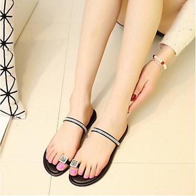 Damen Sandalen Fersenriemen Sommer PU Normal Gold Schwarz 2,5 - 4,5 cm