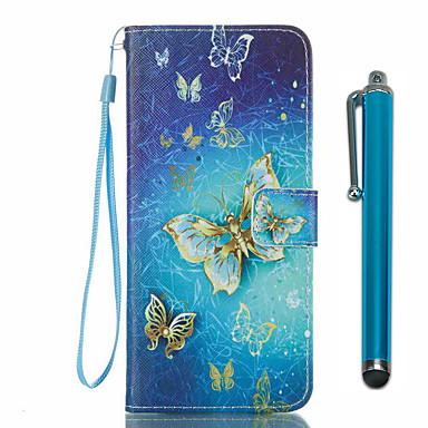 Capinha Para Samsung Galaxy S8 Plus / S8 Carteira / Porta-Cartão / Com Suporte Capa Proteção Completa Borboleta Rígida PU Leather para S8 Plus / S8