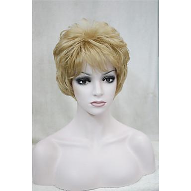 Synthetische Haare Perücken Locken Kappenlos Natürliche Perücke Kurz