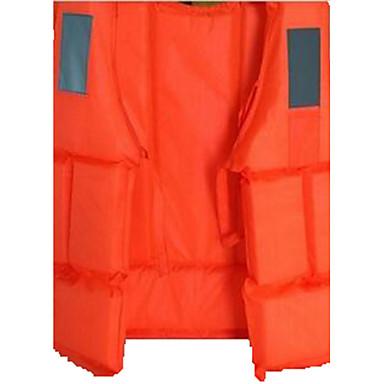 Rettungsweste Wasserdicht Rasche Trocknung Atmungsaktiv Tauchen Surfen Segeln Klassisch Orange