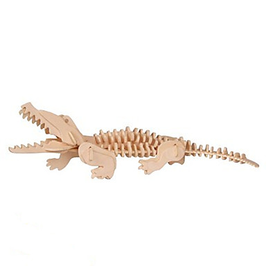 voordelige 3D-puzzels-3D-puzzels Krokodil Plezier Hout Klassiek Kinderen Unisex Speeltjes Geschenk