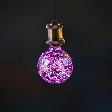 1pç 3W 200 lm E27 Lâmpadas de Filamento de LED G95 33 leds LED Integrado Decorativa Rosa AC 85-265V