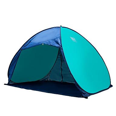 3-4 사람 비치 텐트 텐트 싱글 캠핑 텐트 원 룸 휴대용 자외선 방지 용 캠핑 여행 스테인레스 CM