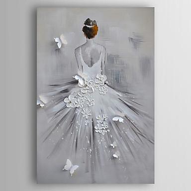 Pintados à mão Pessoas Vertical, Modern Tela de pintura Pintura a Óleo Decoração para casa 1 Painel
