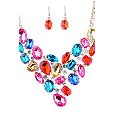 Dámské imitace drahokamu Ostatní Šperky Set Küpeler / Náhrdelníky - Módní / Euramerican Duhová / Červená / Modrá Sady šperků Pro Svatební