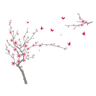 Autocolantes de Parede Decorativos - Autocolantes de Aviões para Parede Romance Floral Botânico Sala de Estar Quarto Banheiro Cozinha