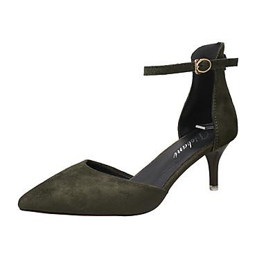 Damen Sandalen Komfort PU Sommer Outddor Walking Schnalle Niedriger Absatz Schwarz Beige Rot Grün Unter 2,5 cm