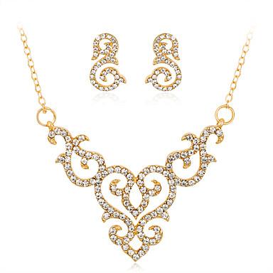 Mulheres Geométrica Conjunto de jóias - Strass Fashion, Euramerican Incluir Colar Dourado Para Casamento / Festa / Ocasião Especial