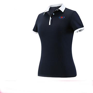 Mulheres Manga Curta Golfe Blusas Respirável Redutor de Suor Confortável Golfe Esportes Relaxantes