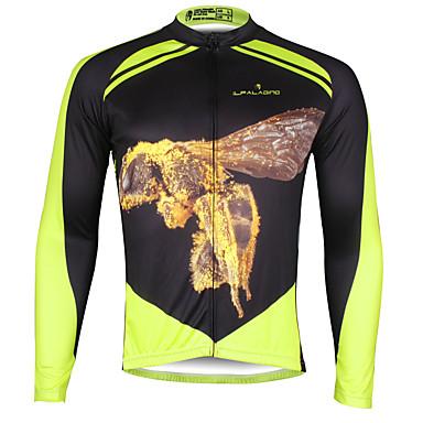 ILPALADINO Homens Manga Longa Camisa para Ciclismo Moto Camisa / Roupas Para Esporte, Secagem Rápida, Resistente Raios Ultravioleta,