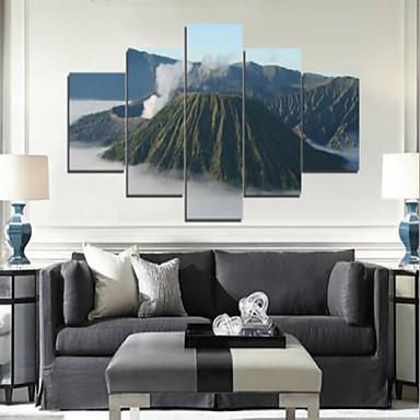 아트 프린트 경치 우아한,5판넬 수평 인쇄 예술 벽 장식 For 홈 장식