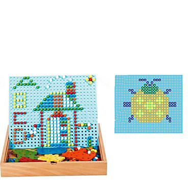 Quebra-Cabeças de Madeira Mosaicos Quadrada Faça Você Mesmo Madeira Clássico Crianças Dom