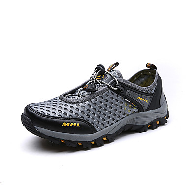 Men's Tulle Spring / Summer / Fall Comfort Athletic Shoes Brown Walking Shoes Gray / Brown Shoes / Green 63aca4