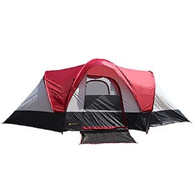 5-7 أشخاص خيمة الكاميرا في الهواء الطلق مكتشف الأمطار طبقات مزدوجة خيمة التخييم غرفتين إلى تخييم السفر