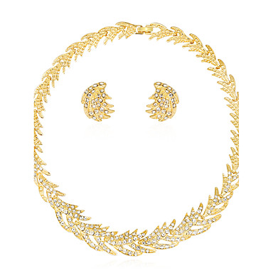 Mulheres Strass Conjunto de jóias 1 Colar 1 Par de Brincos - Euramerican Fashion Sol Conjunto de Jóias Colar Para Casamento Festa