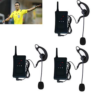 3pcs 2017 auriculares del dúplex del interphone del árbitro del bluetooth del intercomunicador de la motocicleta del vnetphone