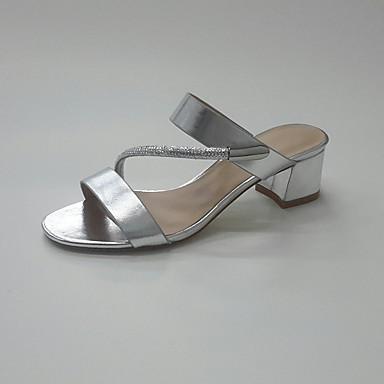 Femme Polyuréthane Sandales Automne 05816074 de club Chaussures Bride Chaussures Eté Orteil Bout Talon Bottier Talon Paillette rond Bas SrSqf