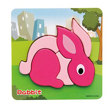 voordelige 3D-puzzels-3D-puzzels Legpuzzel Rabbit Hout 1 pcs Kinderen Speeltjes Geschenk